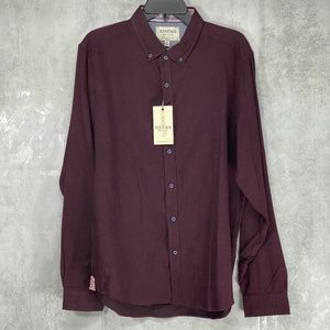 Heritage Report Collection Burgundy Solid Slim Fit